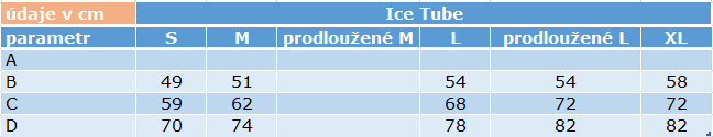 size chart Ice Tube